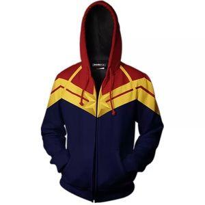 Captain Marvel Hoodie Jacket ** NEW *** OBO